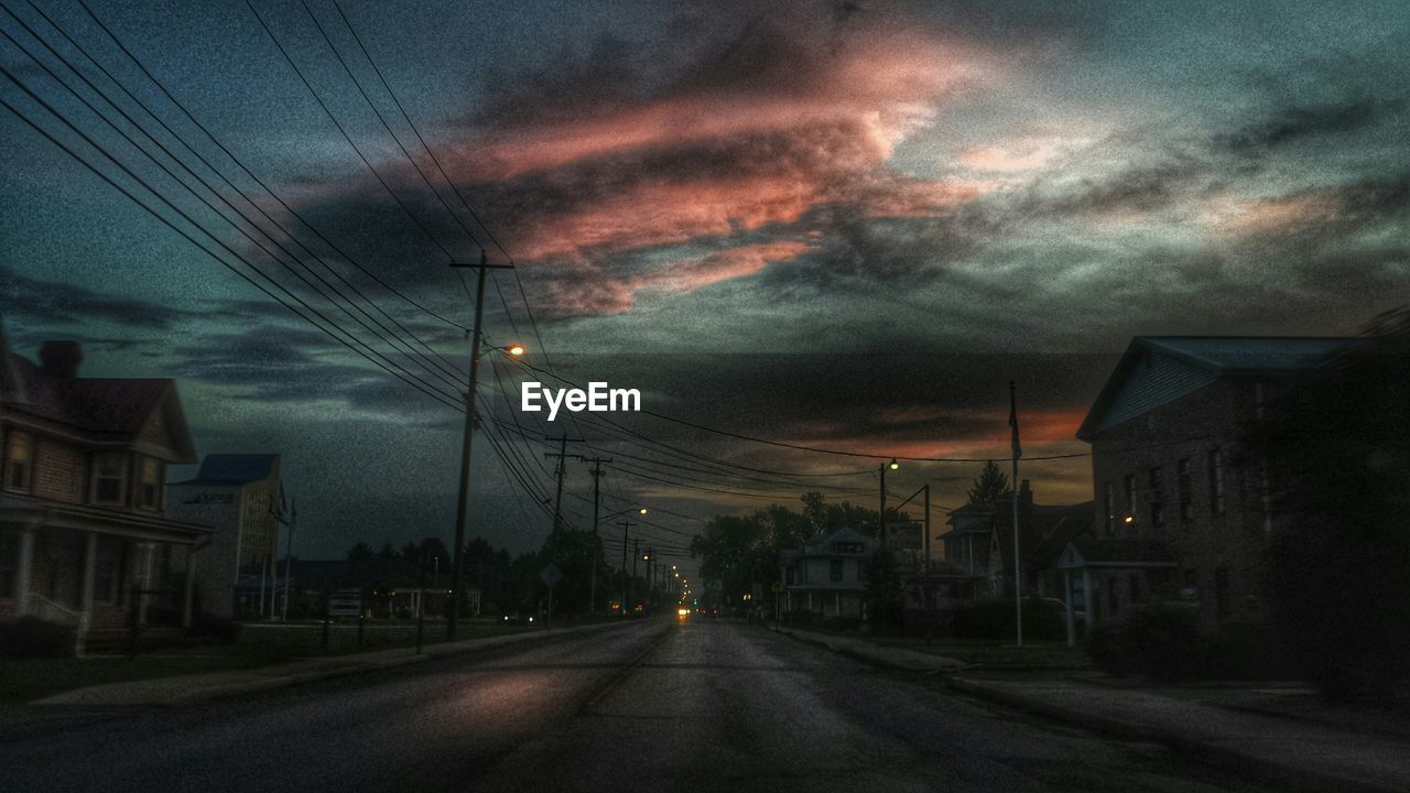 Road at dusk