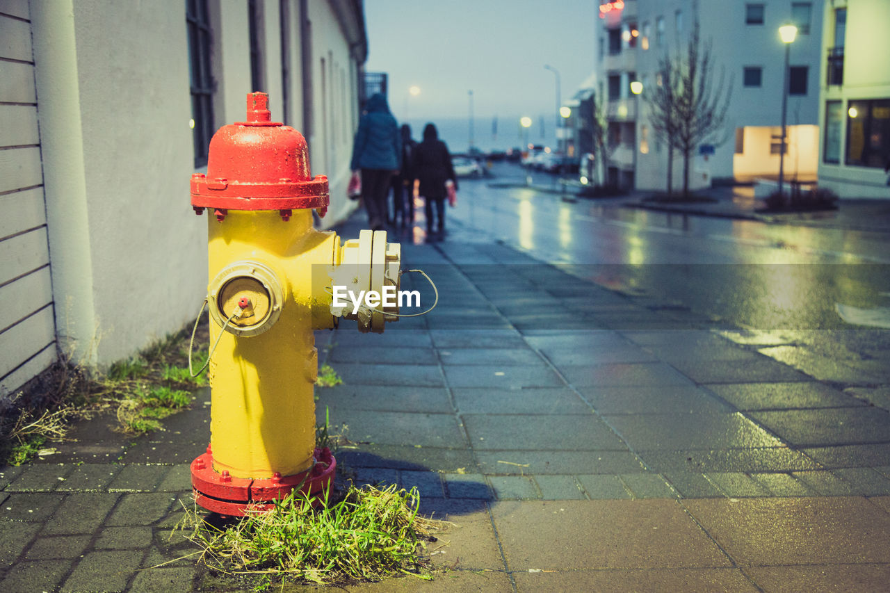 Fire Hydrant On Street In City