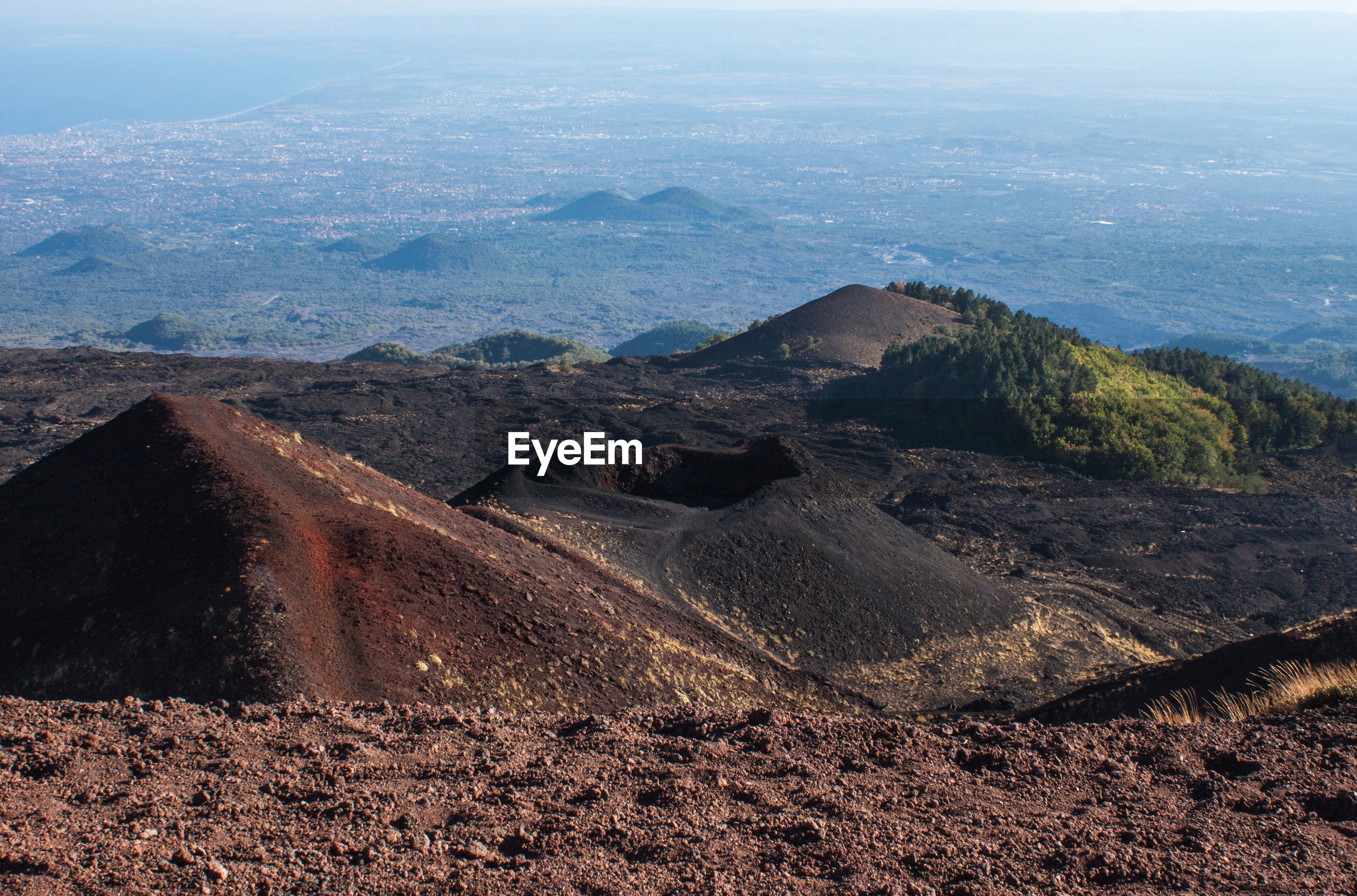 Scenic view of mt etna