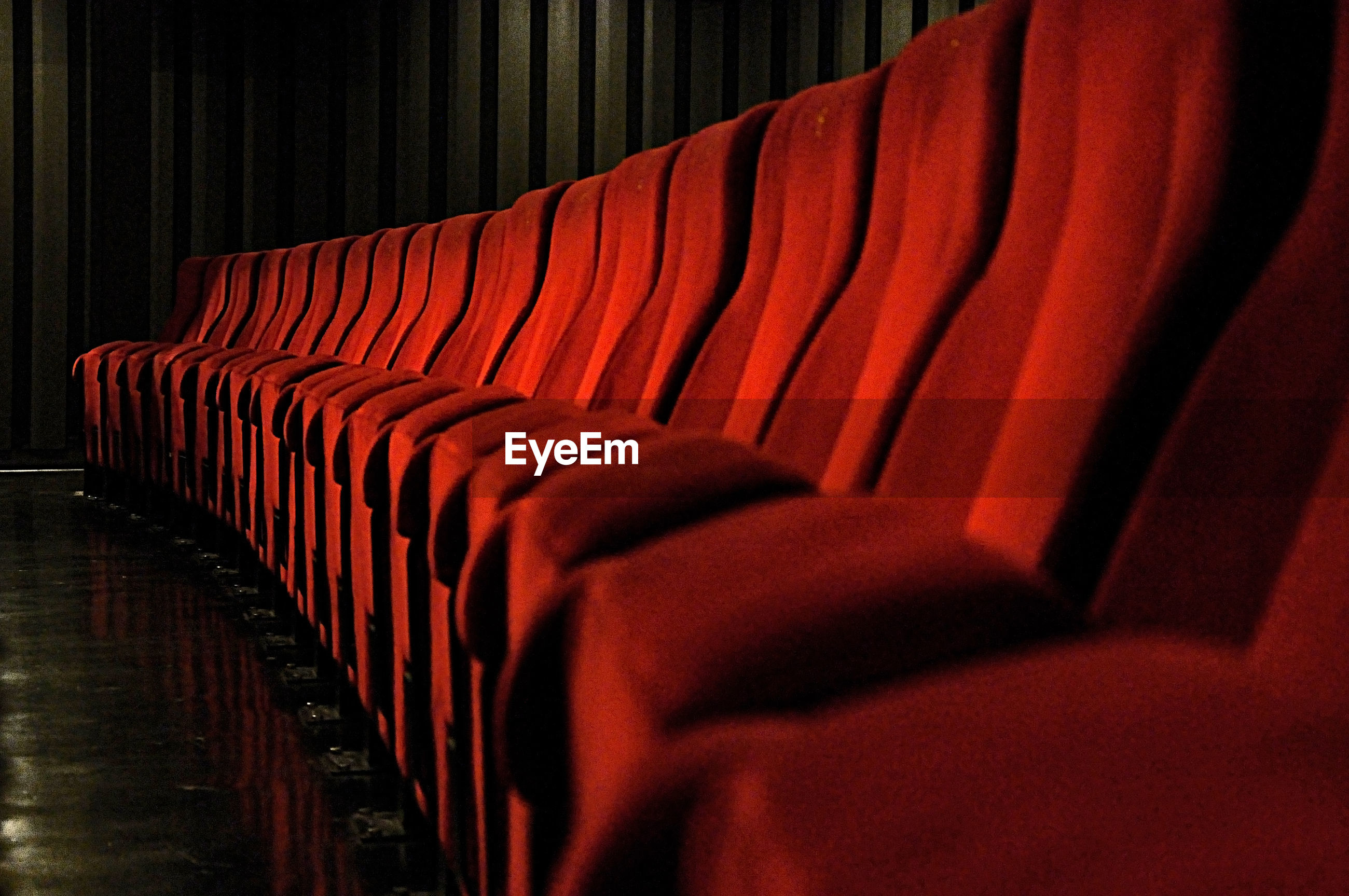 Empty seats at theater
