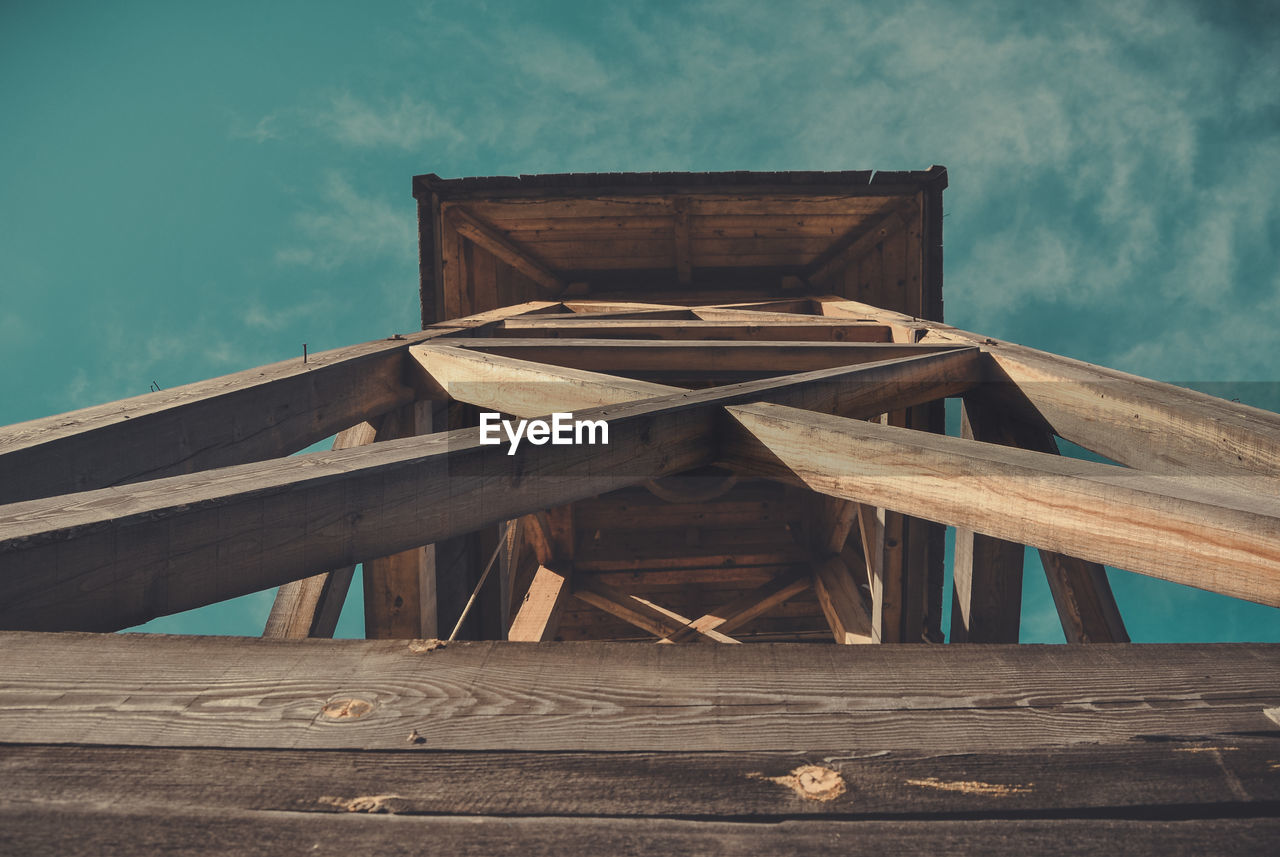Wooden Structure Against Sky