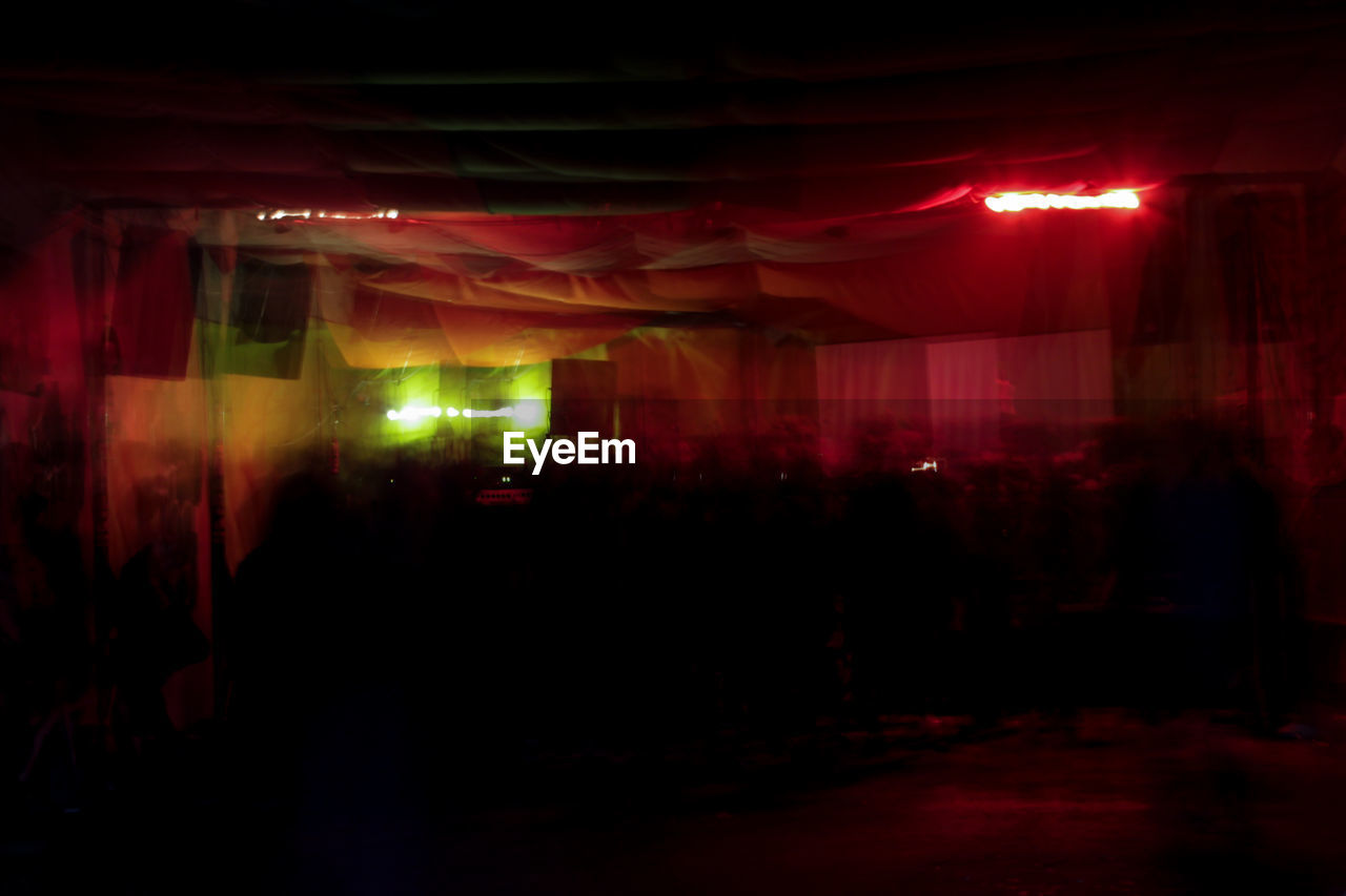 illuminated, night, arts culture and entertainment, nightclub, nightlife, indoors, crowd, people
