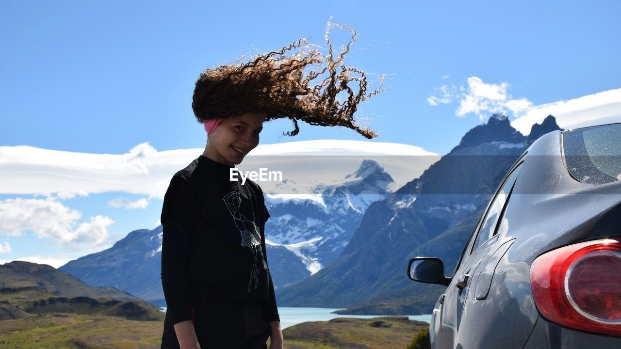 Girl Enjoying A Road Trip In Chile