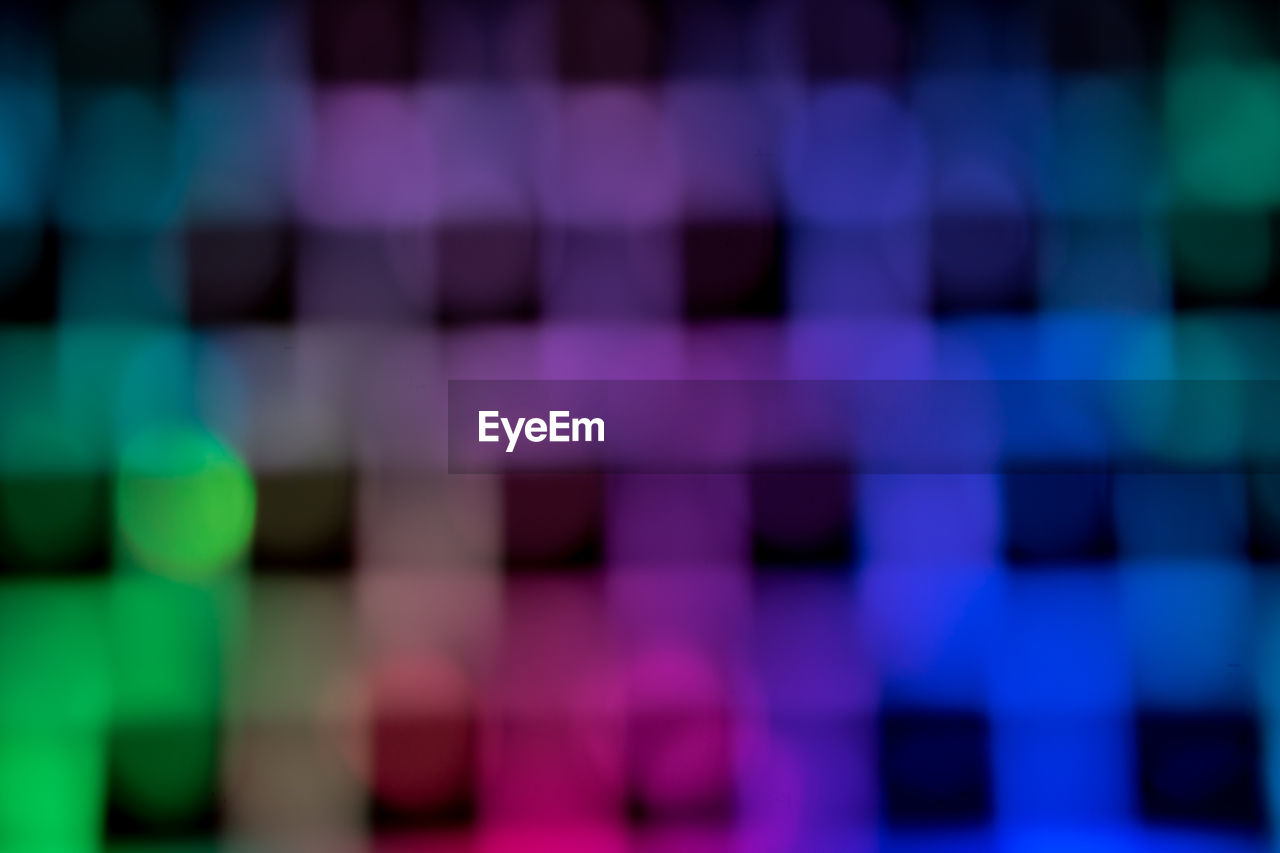 multi colored, backgrounds, full frame, purple, pattern, abstract, no people, illuminated, close-up, indoors, pixelated, day