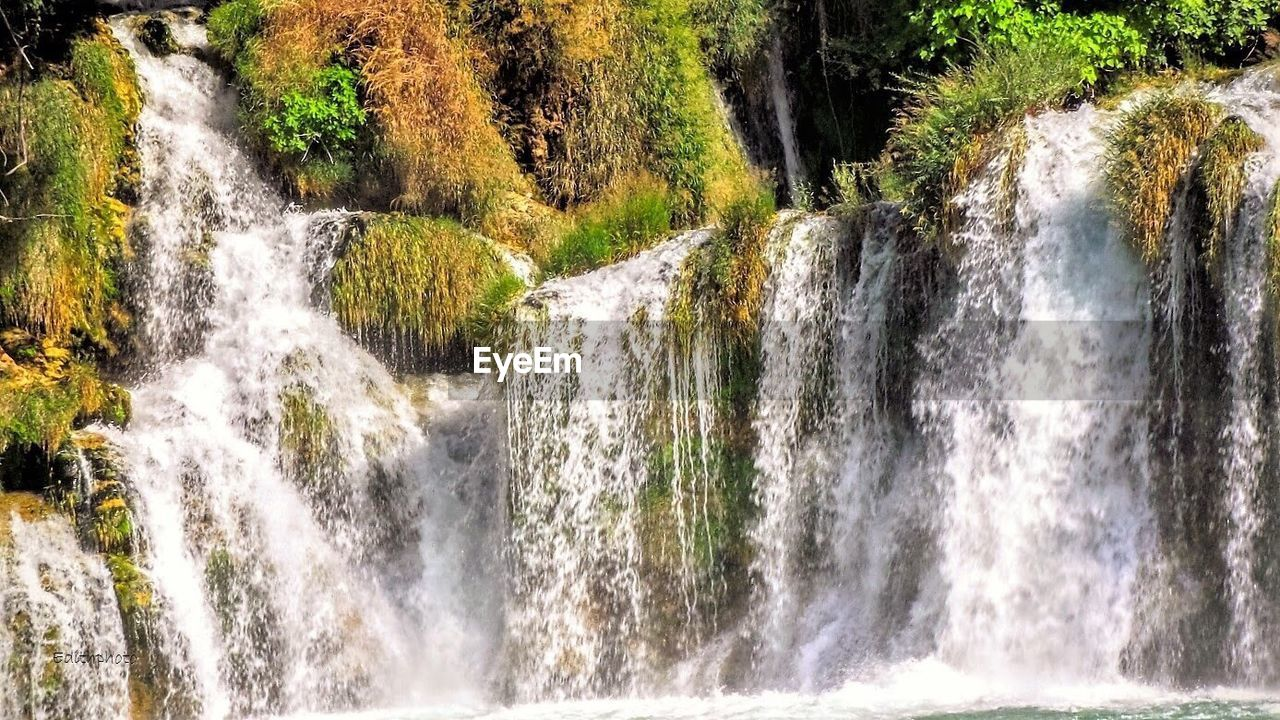waterfall, flowing water, water, motion, river, scenics, beauty in nature, long exposure, nature, forest, tree, no people, rapid, outdoors, power in nature, day, travel destinations