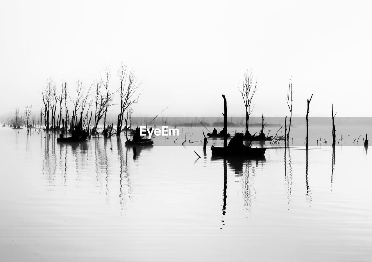 SAILBOATS IN LAKE