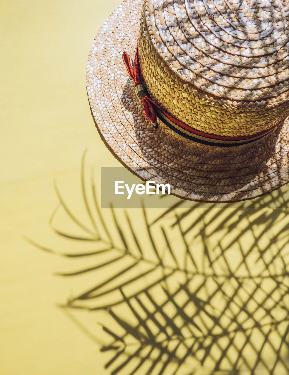 Close-Up Of Sun Hat On Table