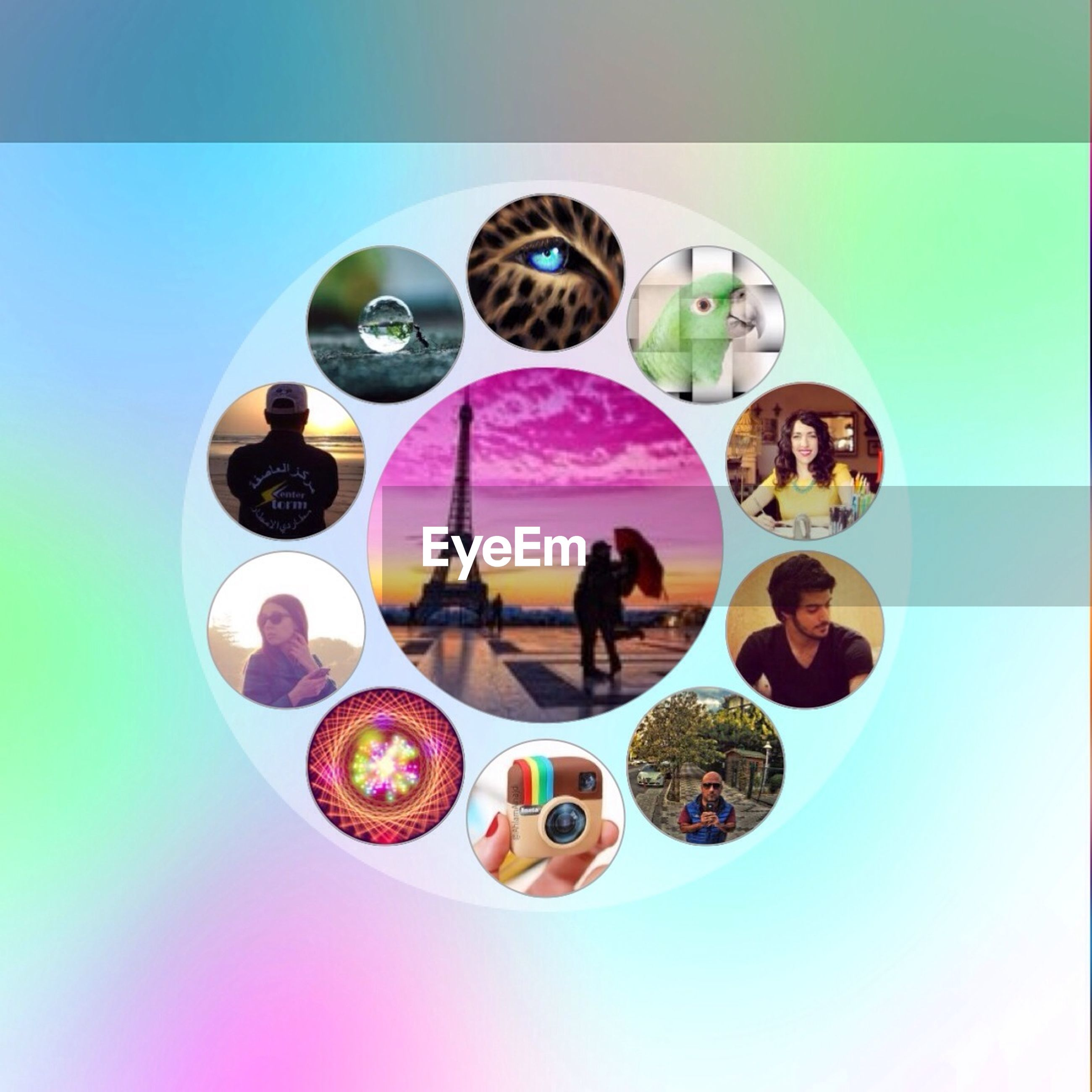 multi colored, indoors, transfer print, variation, auto post production filter, circle, blue, copy space, leisure activity, day, table, still life, geometric shape, reflection, creativity, art, colorful, high angle view, art and craft