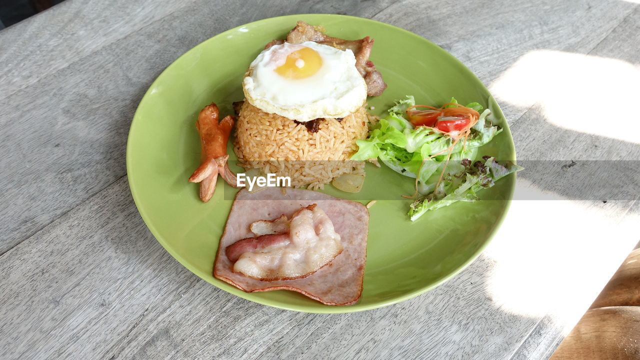 food, food and drink, freshness, ready-to-eat, high angle view, serving size, table, plate, no people, indoors, indulgence, close-up, healthy eating, meat, day