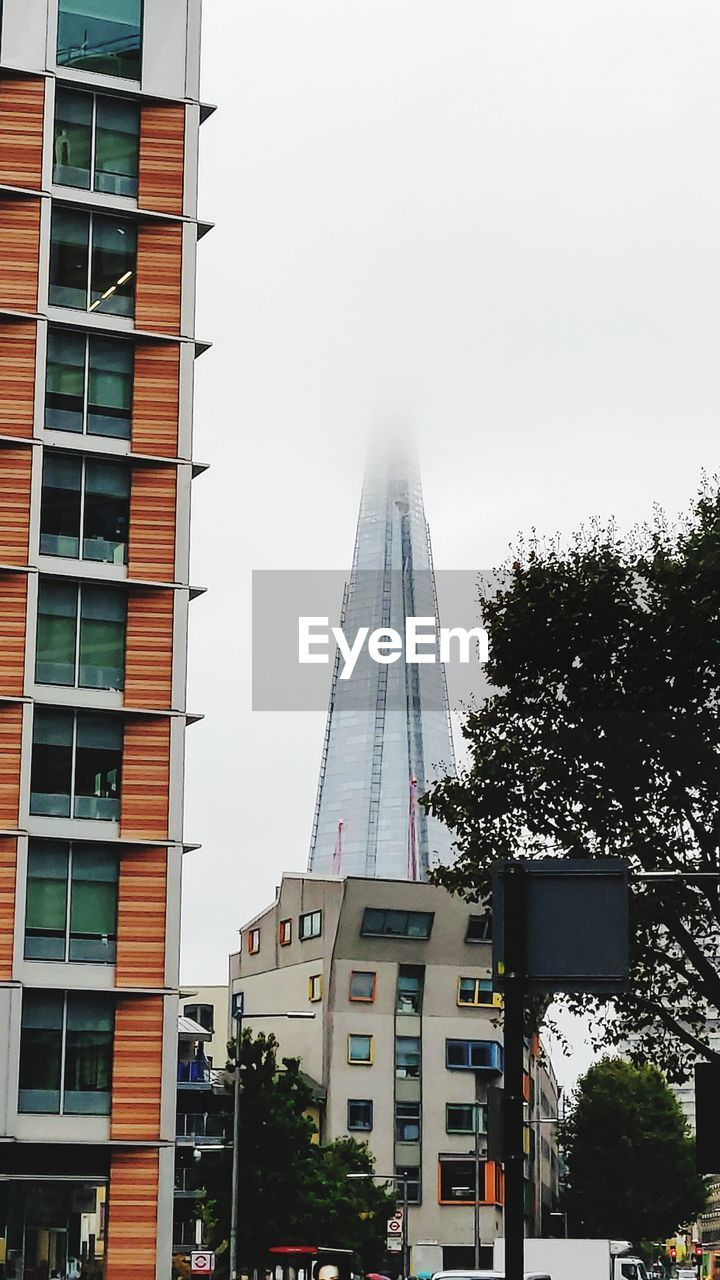 built structure, building exterior, architecture, sky, city, building, nature, plant, no people, tree, low angle view, tall - high, day, office building exterior, tower, office, modern, outdoors, clear sky, skyscraper