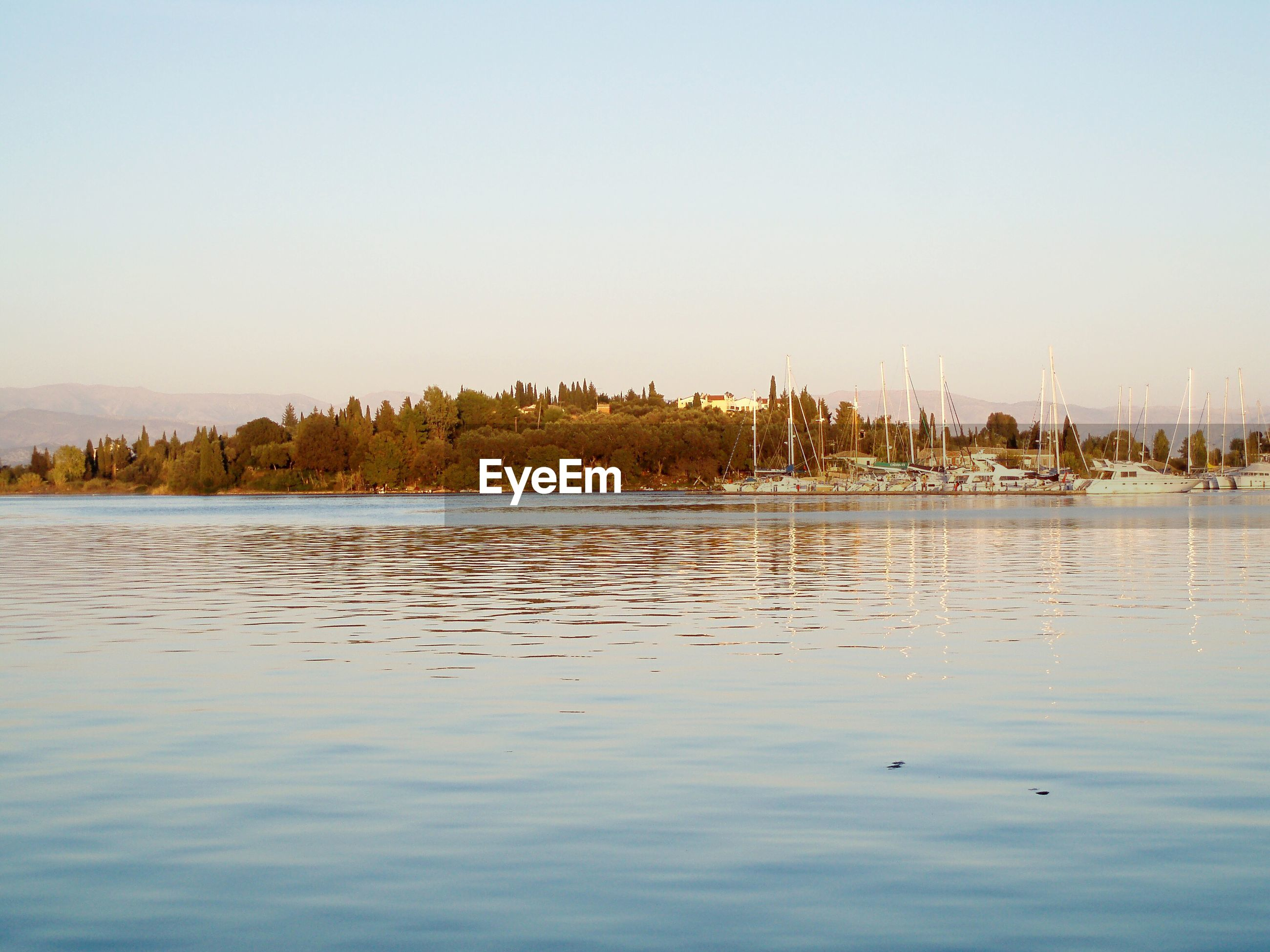 VIEW OF LAKE AGAINST CLEAR SKY