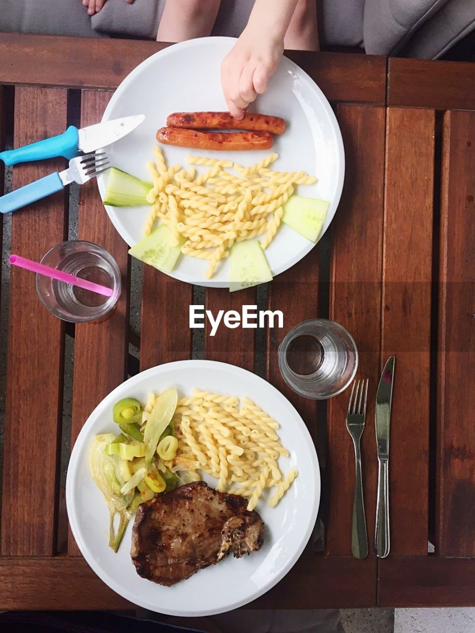 food and drink, table, food, plate, real people, freshness, fork, indoors, meat, prepared potato, ready-to-eat, one person, human hand, serving size, mashed potatoes, spaghetti, human body part, meal, eating, healthy eating, lifestyles, cooked, day, deep fried, close-up, egg yolk, people