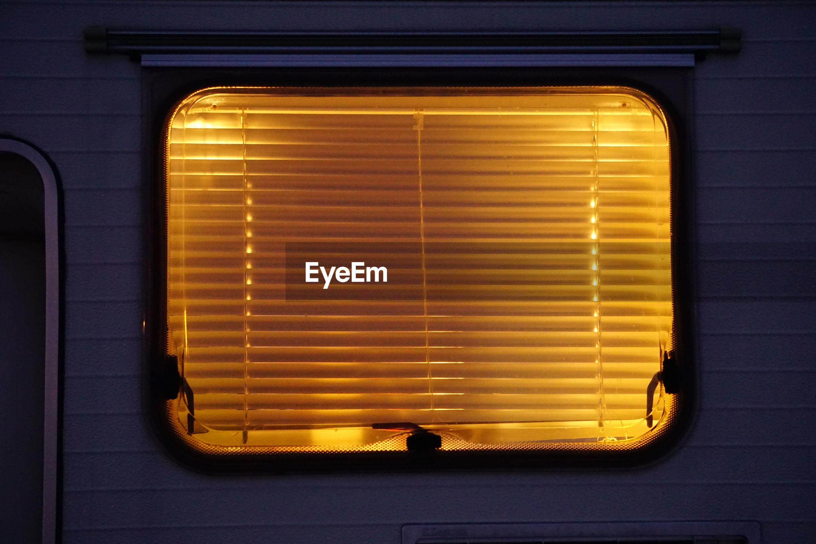 Camper with blindes