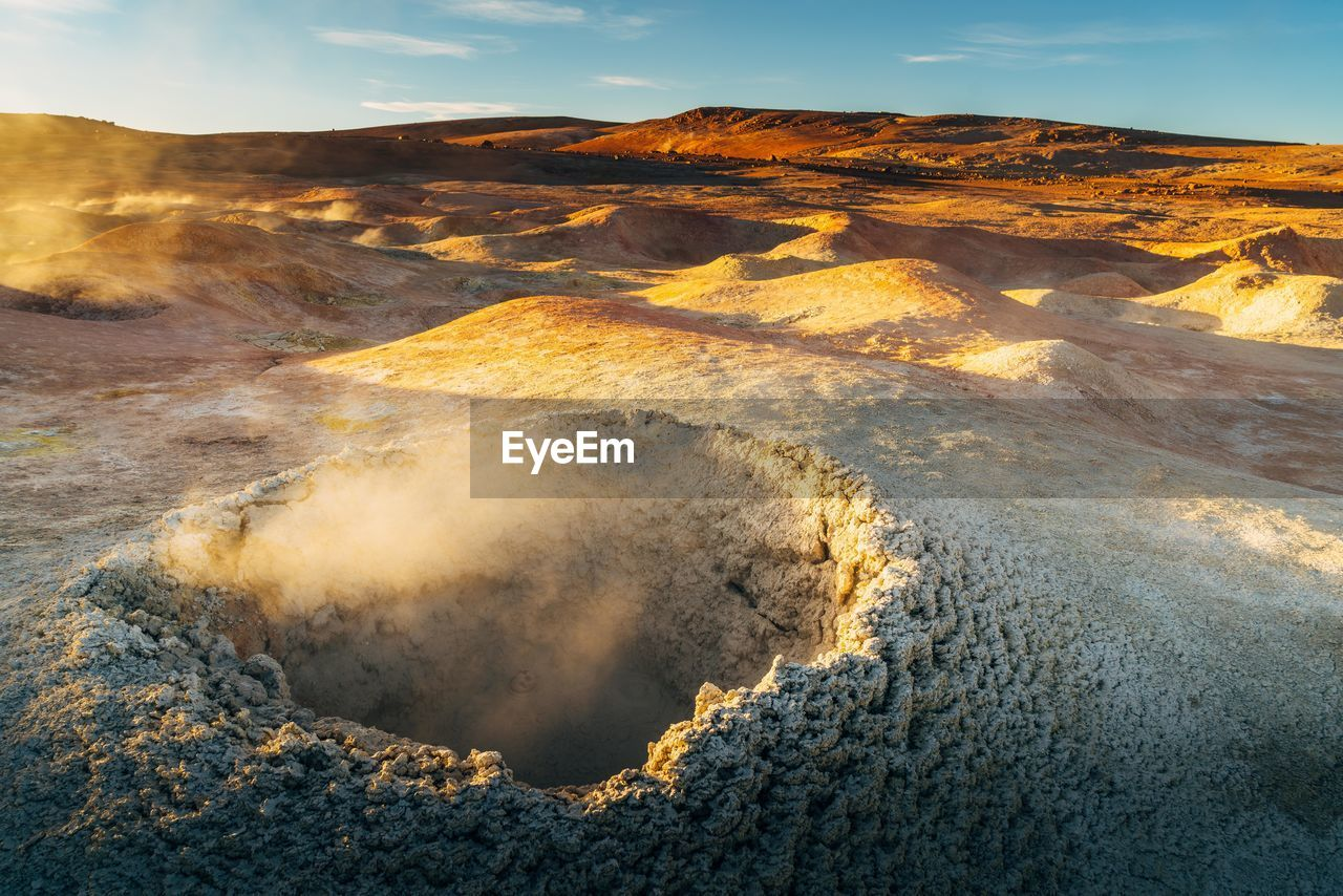 High Angle View Of Volcanic Crater
