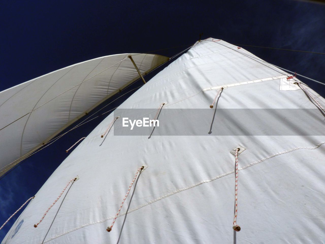 Low Angle View Of Sails Of Boat