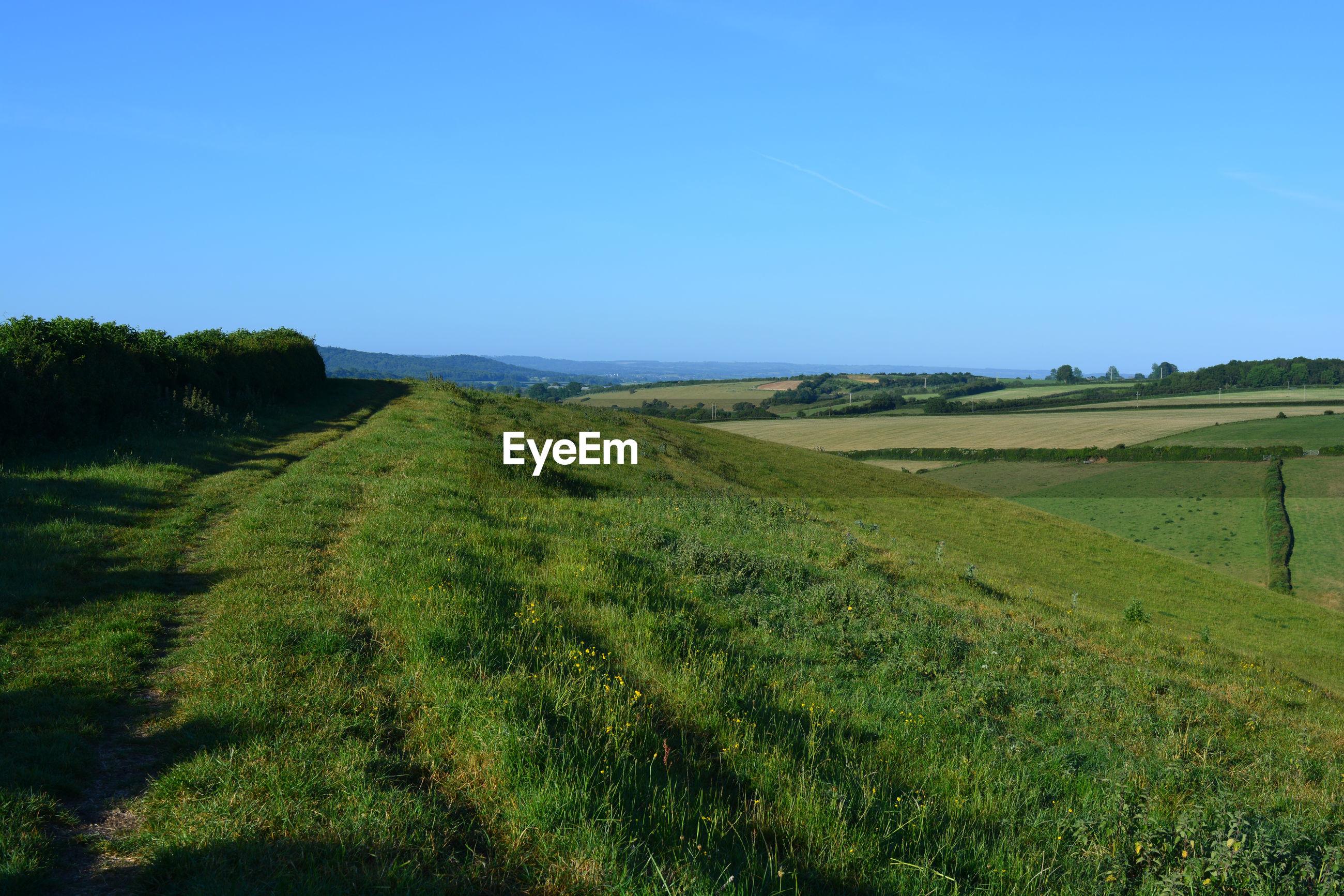 Landscape view from donkey lane track between oborne and poyntington, sherborne, dorset, england