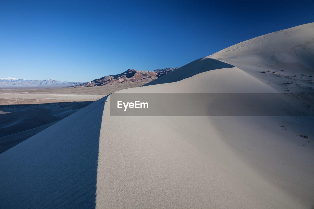 Eureka Valley Sand Dunes Against Clear Blue Sky