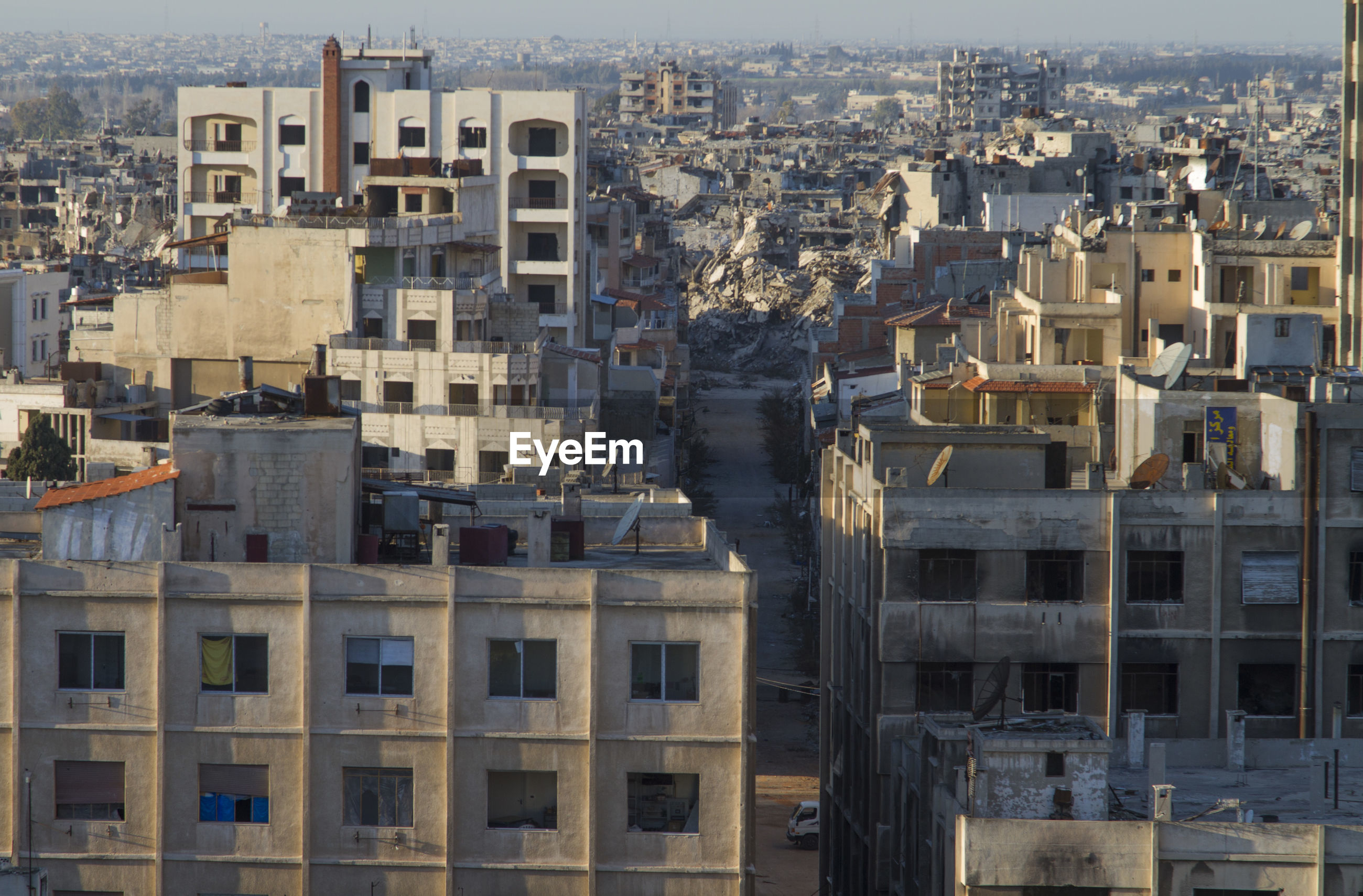 Center of homs city, syria in ruins