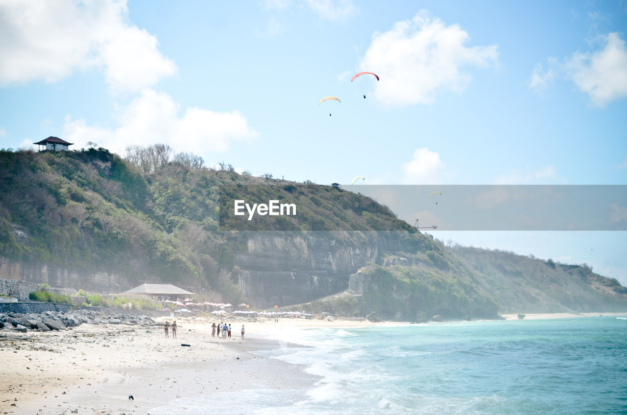 SCENIC VIEW OF PEOPLE ON BEACH