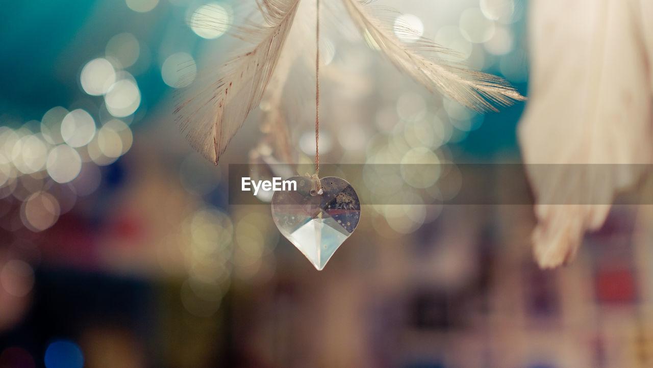 Close-Up Of Heart Shape Crystal Decor