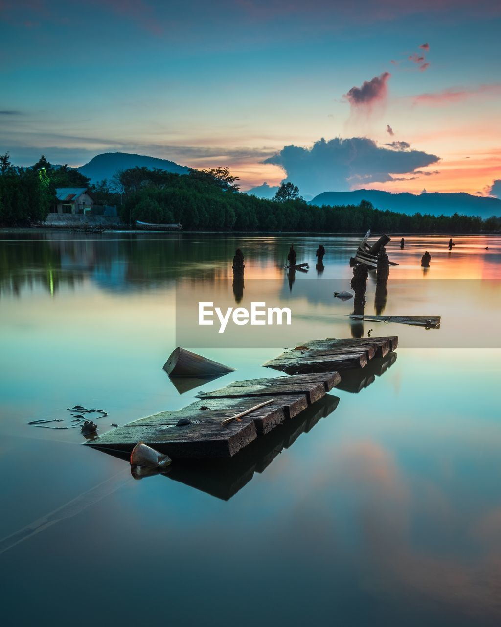 water, reflection, sky, lake, cloud - sky, nature, tranquility, sunset, scenics - nature, tranquil scene, waterfront, nautical vessel, beauty in nature, transportation, no people, mode of transportation, idyllic, outdoors, standing water, floating on water, swimming pool
