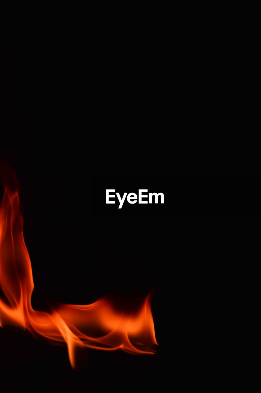 burning, flame, heat - temperature, copy space, studio shot, black background, motion, no people, night, close-up, outdoors