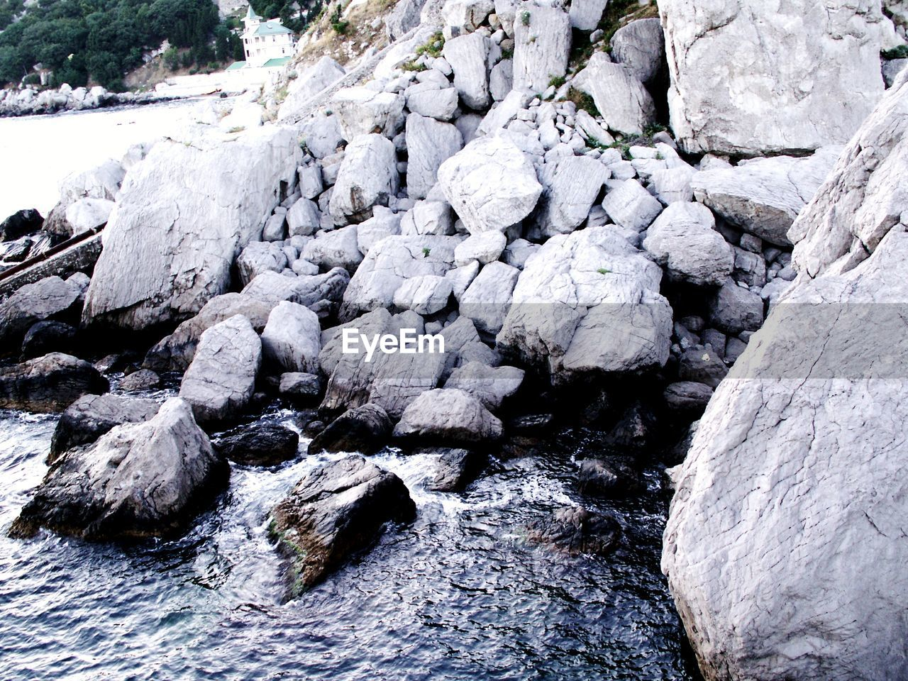rock - object, nature, outdoors, no people, day, beauty in nature, water