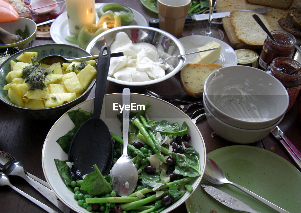 food and drink, food, vegetable, salad, high angle view, bowl, healthy eating, no people, freshness, plate, indoors, ready-to-eat, close-up, day