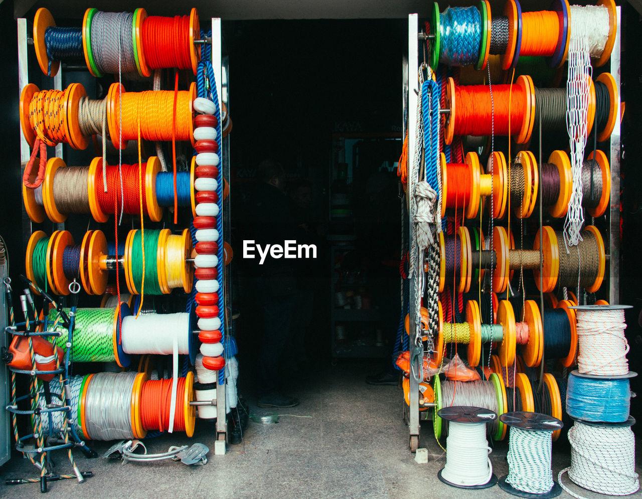 Multi Colored Spools For Sale In Shop