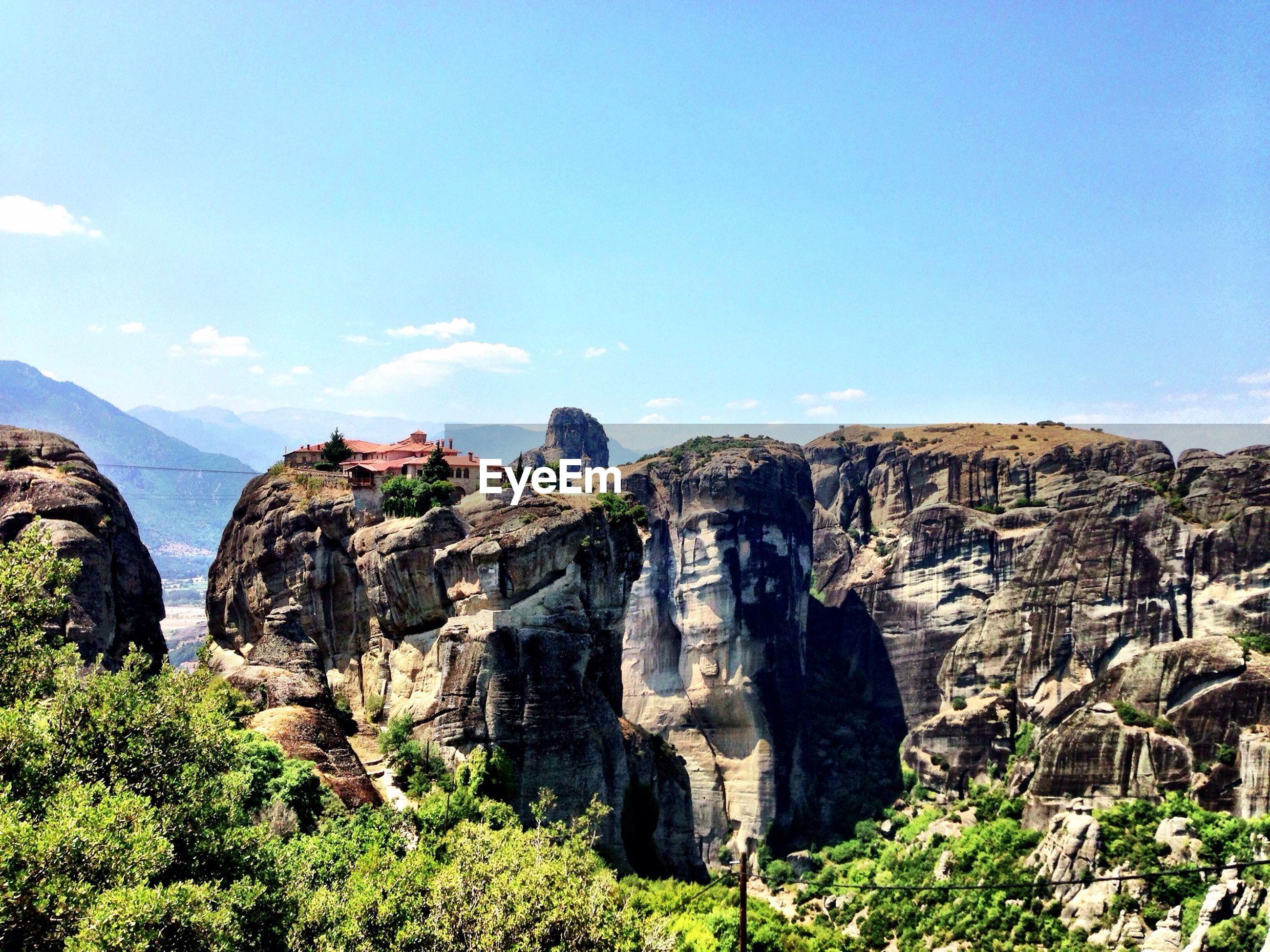 Varlaam monastery on meteora rocks