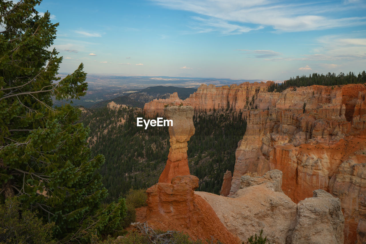 sky, beauty in nature, nature, travel, rock, non-urban scene, environment, scenics - nature, tourism, rock formation, tree, tranquility, rock - object, tranquil scene, canyon, travel destinations, landscape, geology, mountain, no people, outdoors, eroded