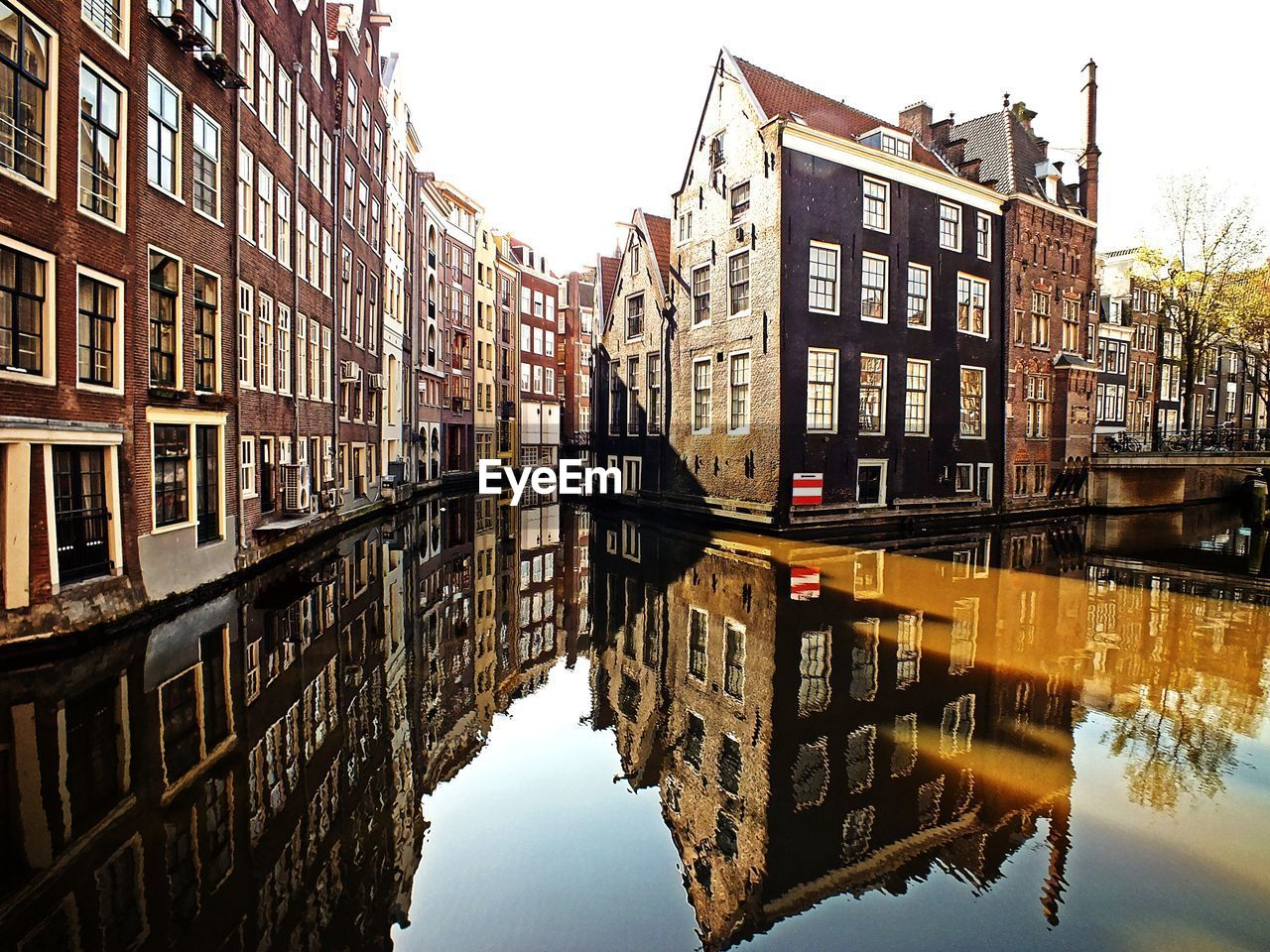 Facades reflecting in canal