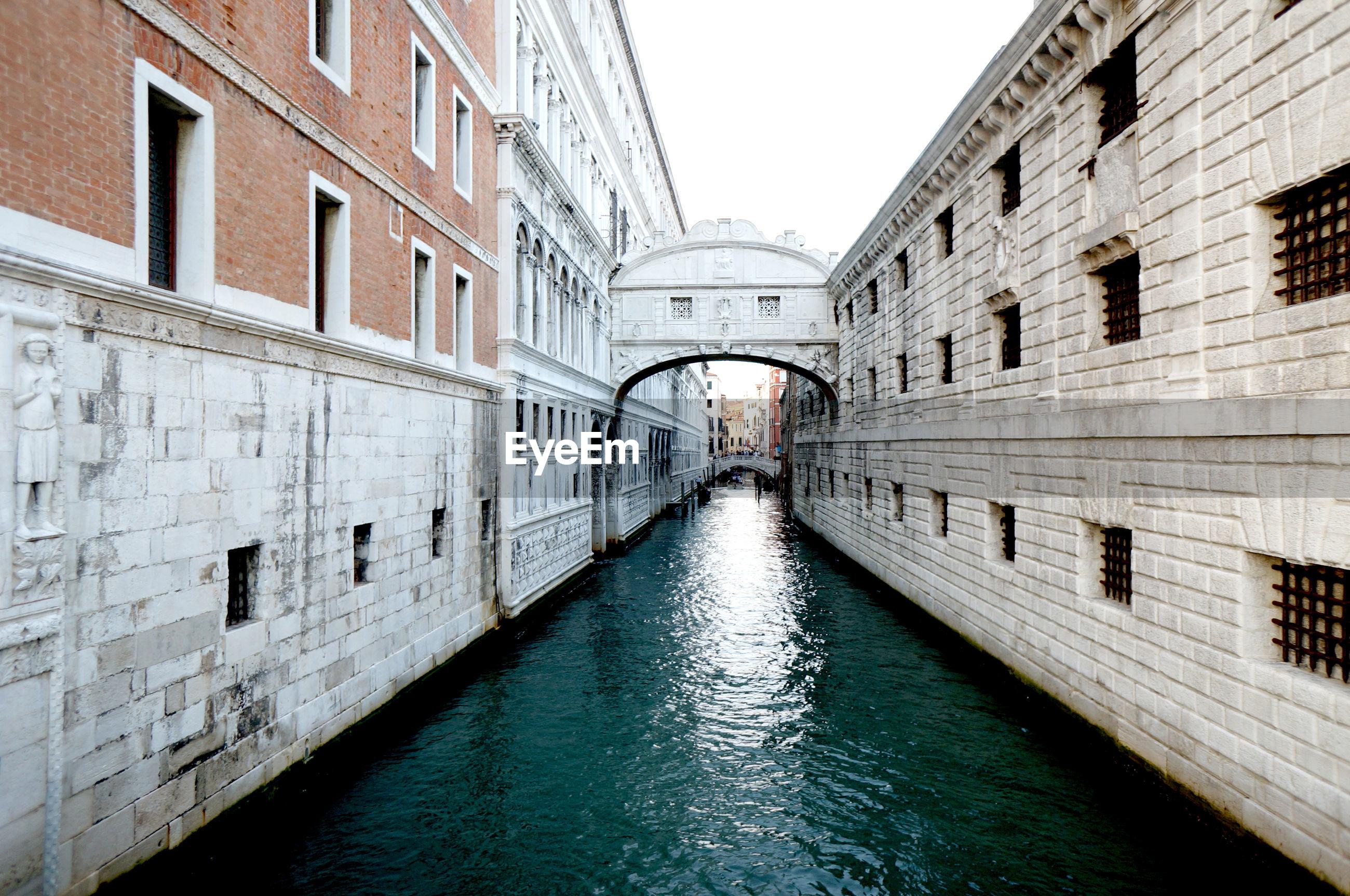 Grand canal amidst buildings against sky