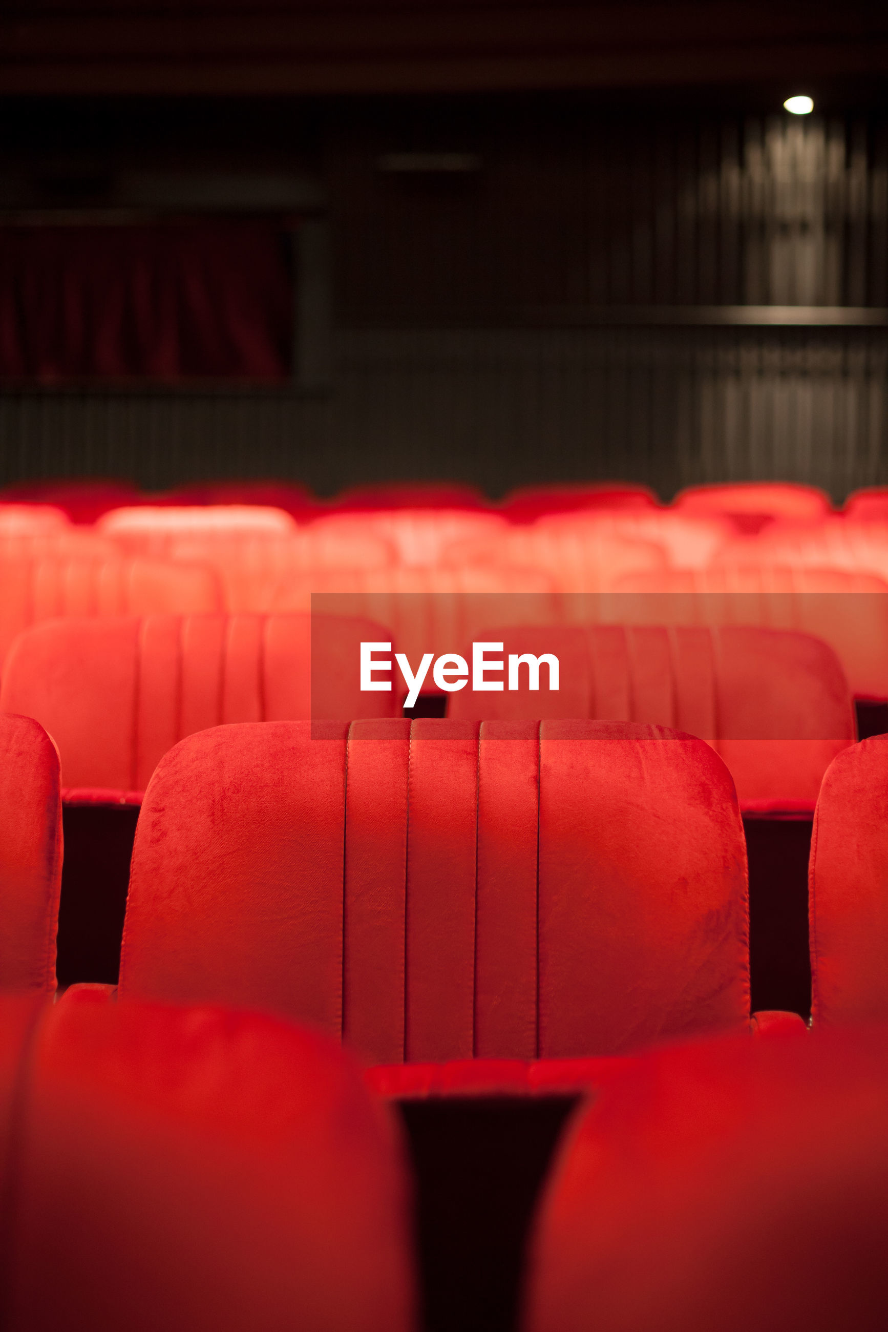 Empty chairs in theatre