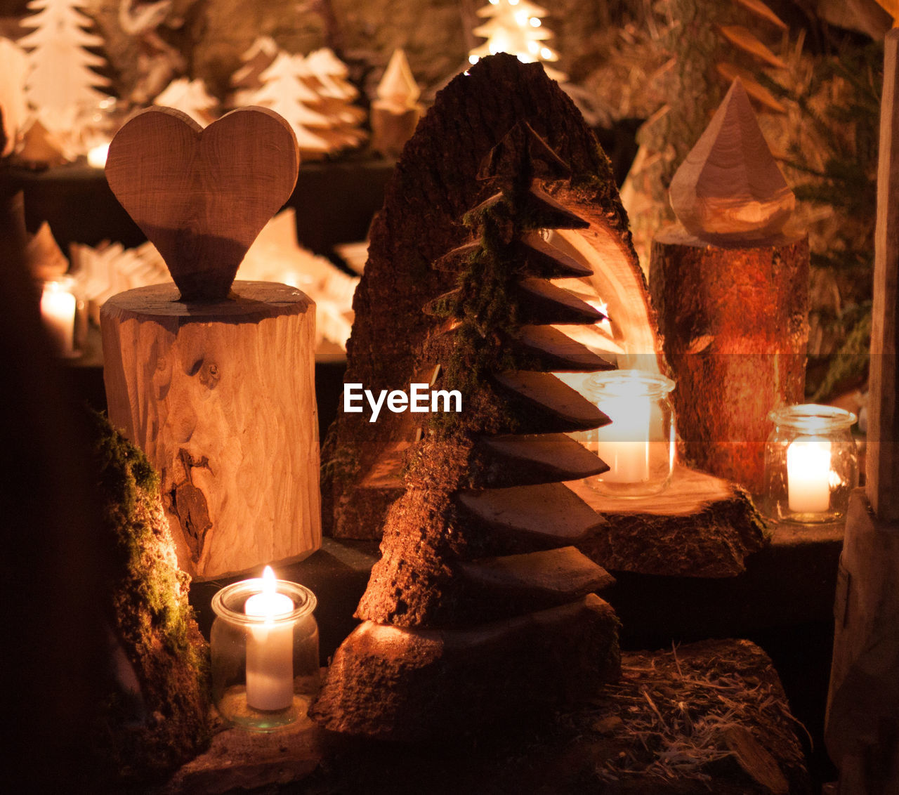 candle, fire, illuminated, burning, flame, fire - natural phenomenon, heat - temperature, no people, religion, glowing, indoors, spirituality, close-up, human representation, representation, belief, art and craft, lighting equipment, place of worship, altar, electric lamp