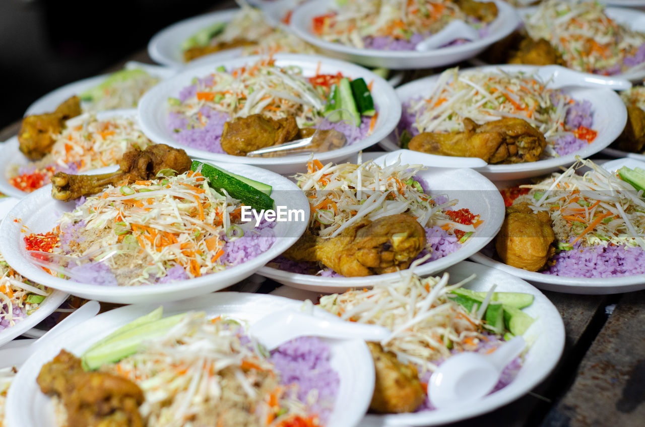 food, food and drink, ready-to-eat, freshness, plate, still life, indoors, serving size, close-up, healthy eating, table, wellbeing, selective focus, no people, rice - food staple, meal, high angle view, meat, indulgence, bowl, temptation, snack