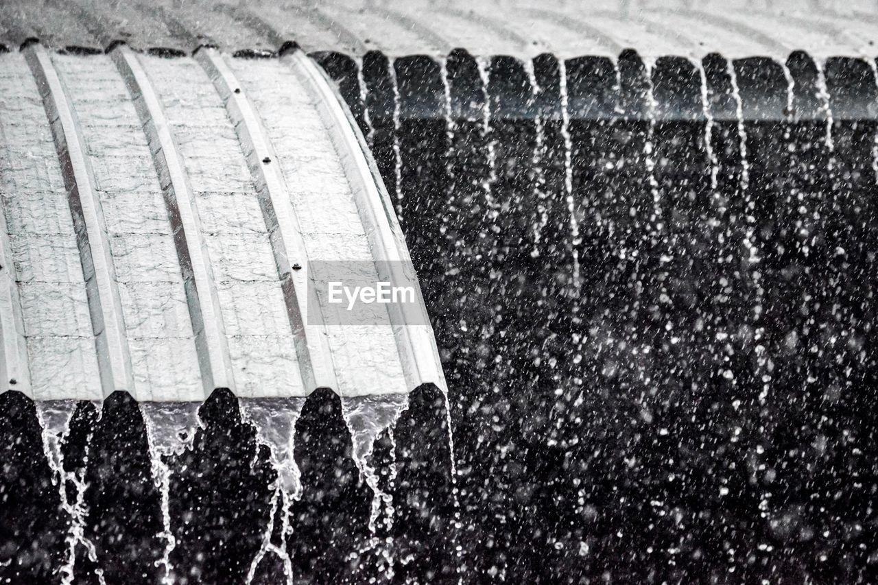 CLOSE-UP OF WATER SPLASHING ON FOUNTAIN
