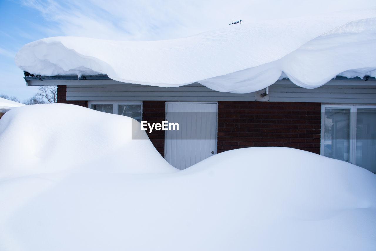 White House On Snow Covered Mountain