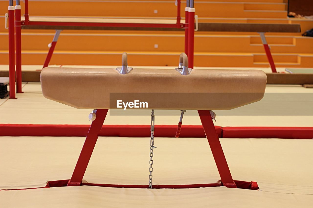 Pommel horse in gym