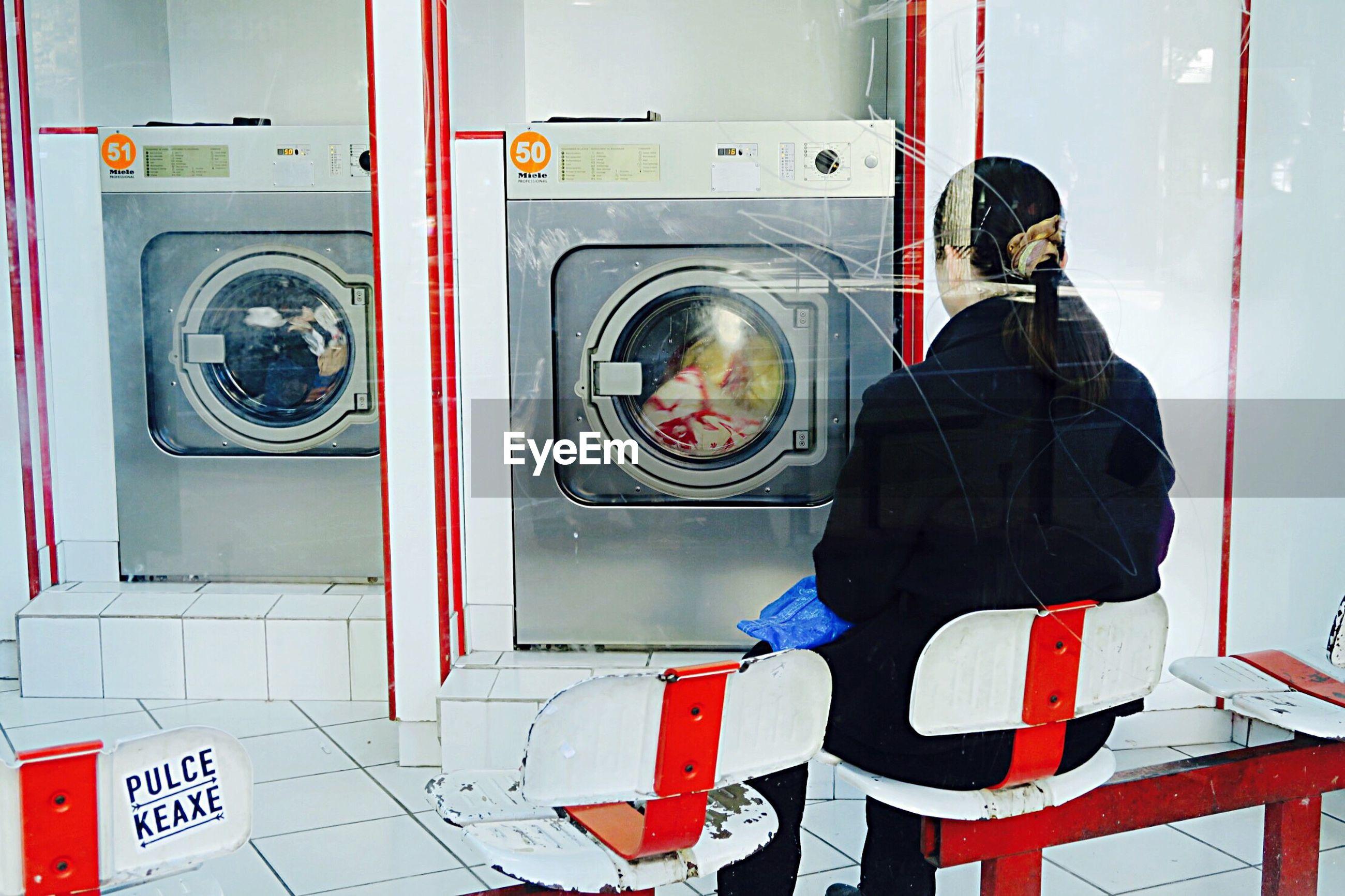 MAN WEARING MASK IN BATHROOM