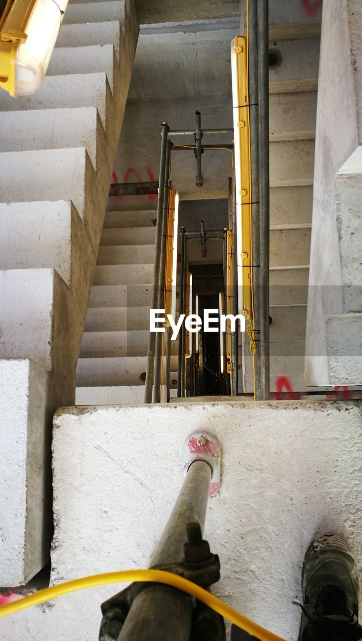 steps, steps and staircases, staircase, built structure, indoors, architecture, low section, day, real people, one person, people