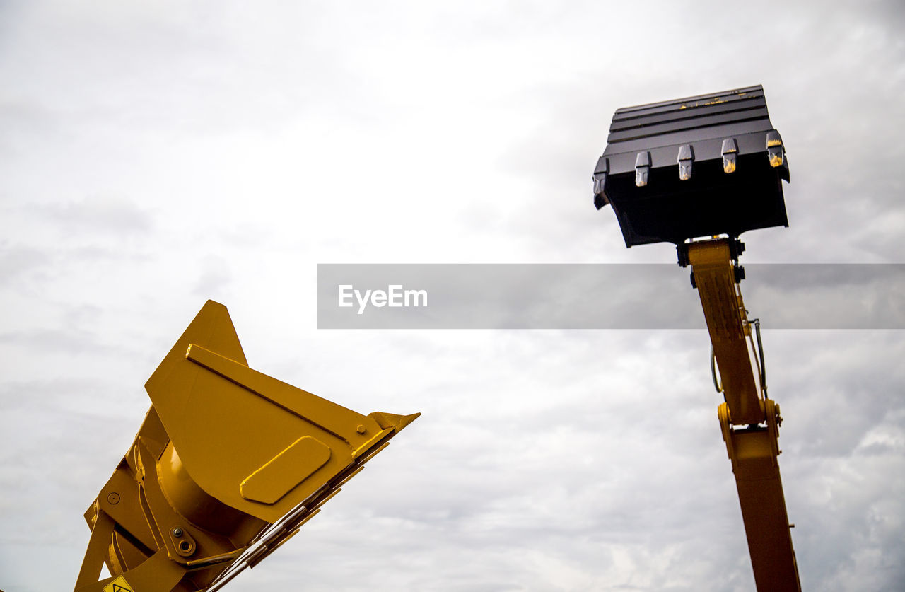 Low Angle View Of Excavator