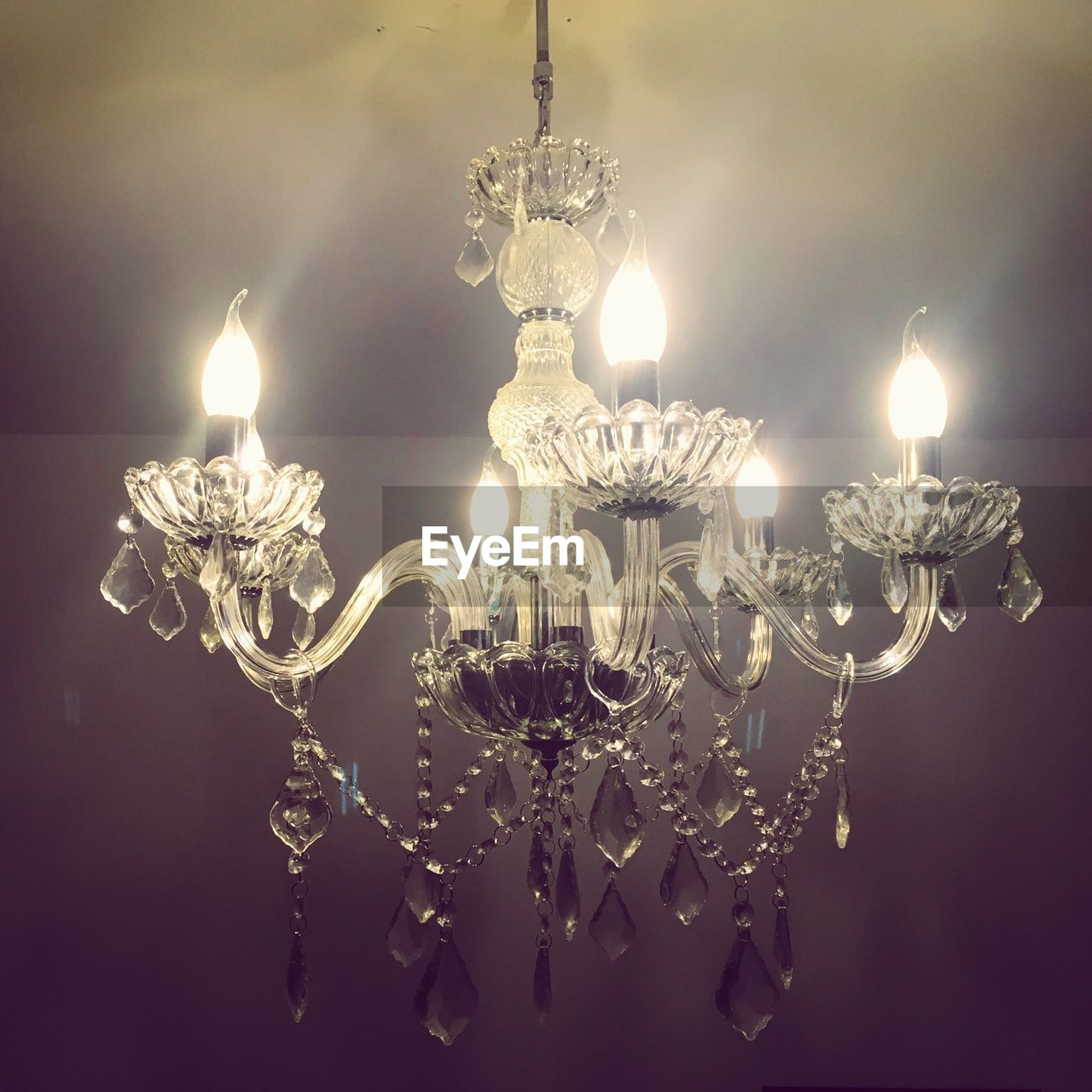 lighting equipment, illuminated, electricity, decoration, glowing, hanging, light bulb, no people, ornate, crystal, luxury, low angle view, close-up, indoors, christmas decoration