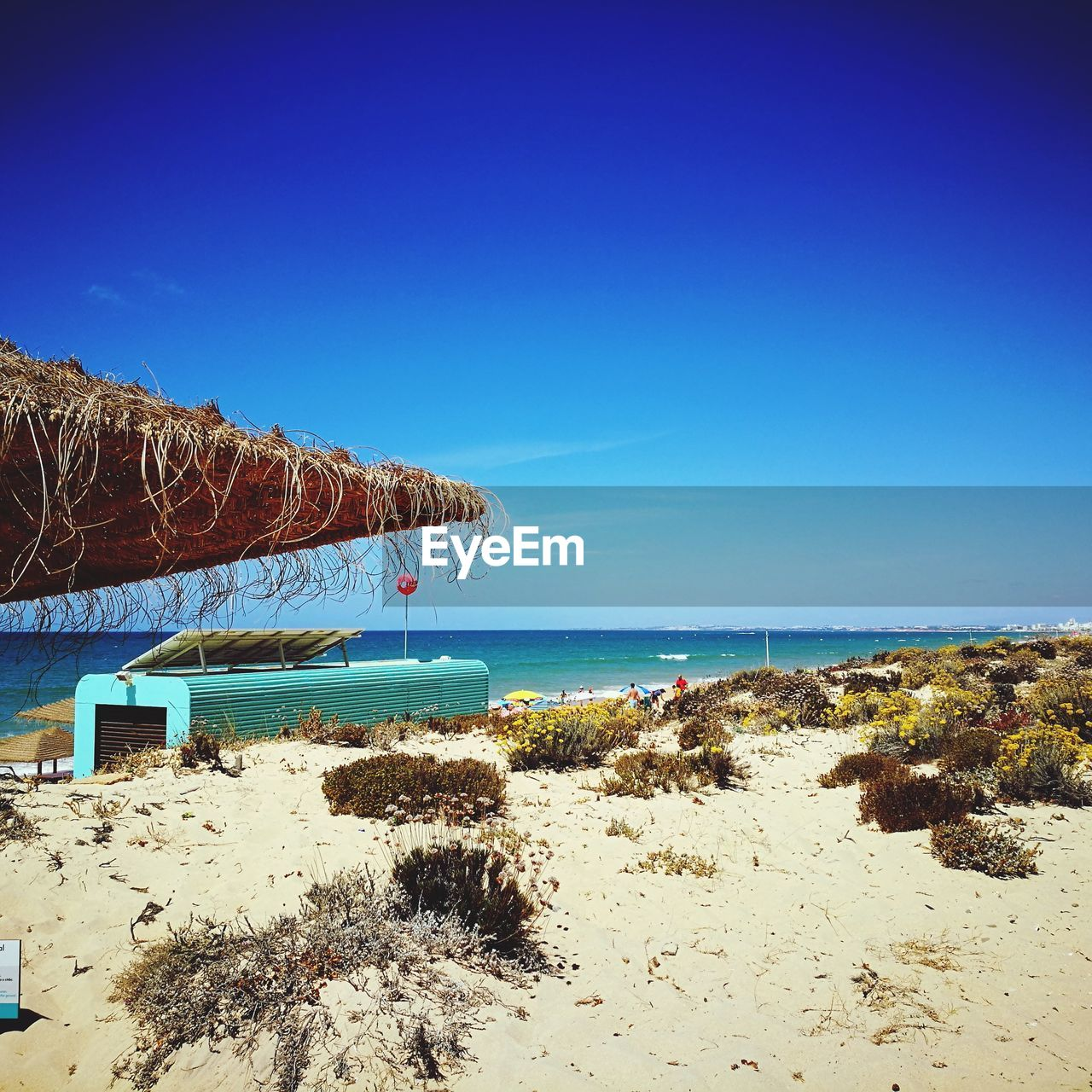 sea, water, sky, blue, beach, land, beauty in nature, scenics - nature, tranquil scene, horizon over water, clear sky, tranquility, nature, day, horizon, copy space, no people, non-urban scene, idyllic, outdoors