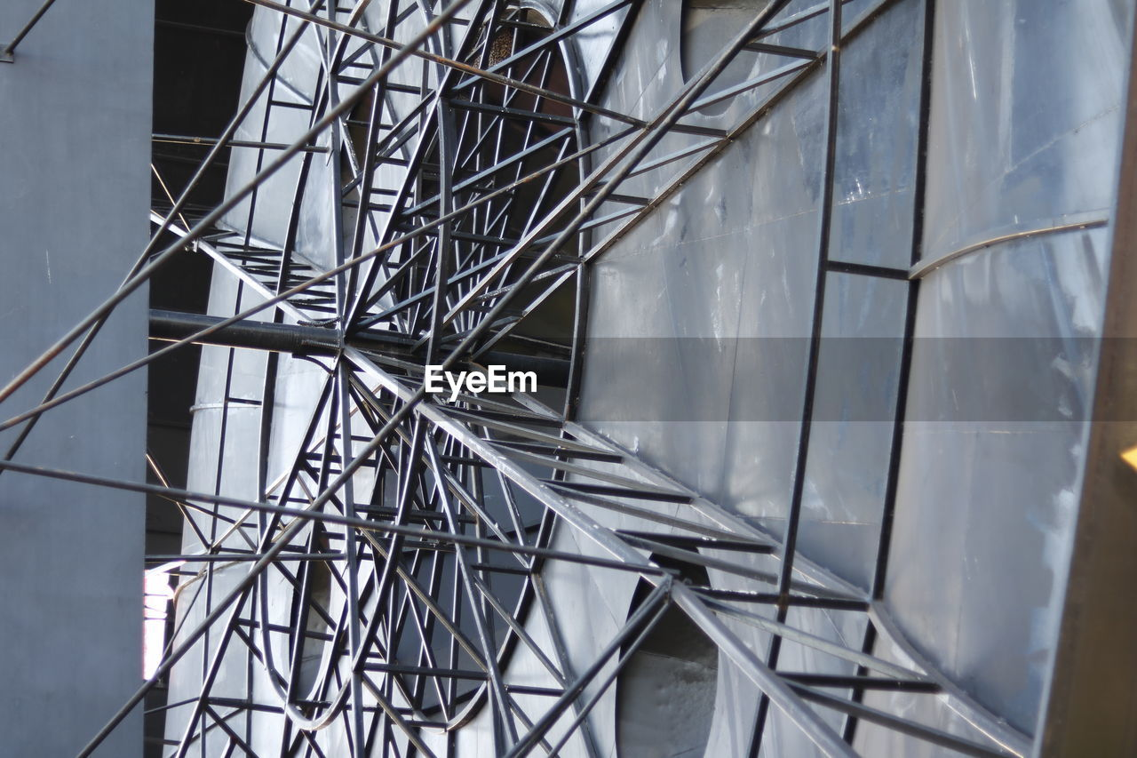 built structure, architecture, no people, metal, day, pattern, low angle view, outdoors, nature, building exterior, full frame, geometric shape, industry, building, fuel and power generation, construction industry, close-up, connection, complexity, design, power supply
