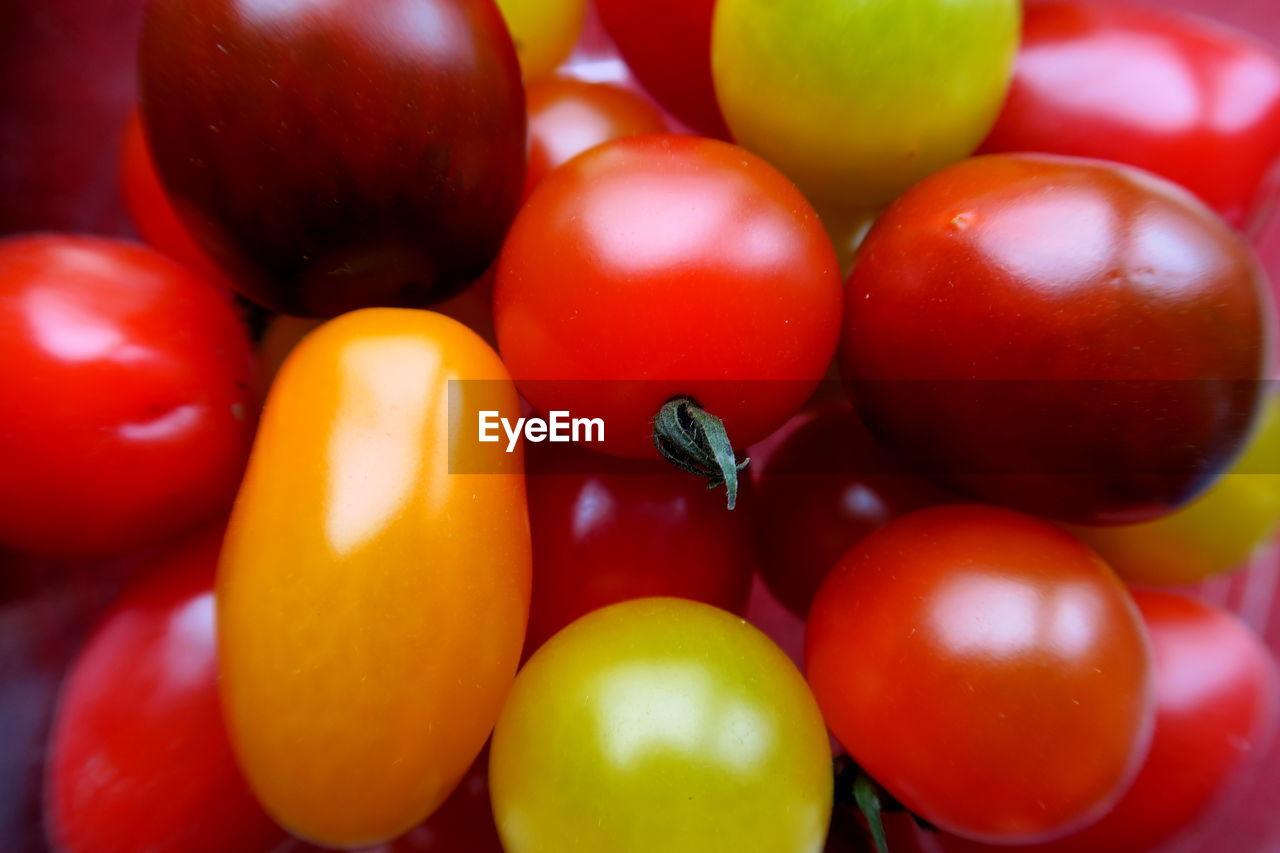 Full Frame Shot Of Cherry Tomatoes