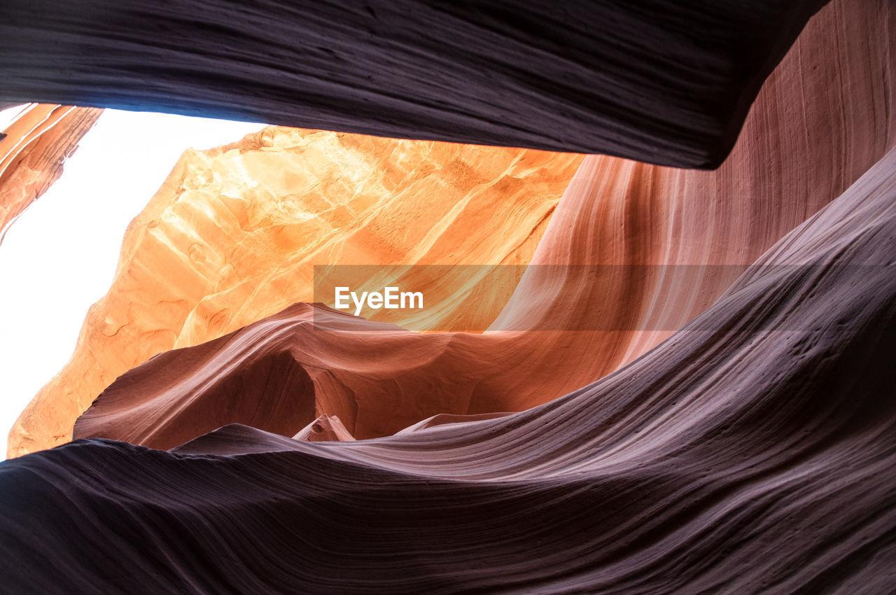 Rock formation at antelope canyon