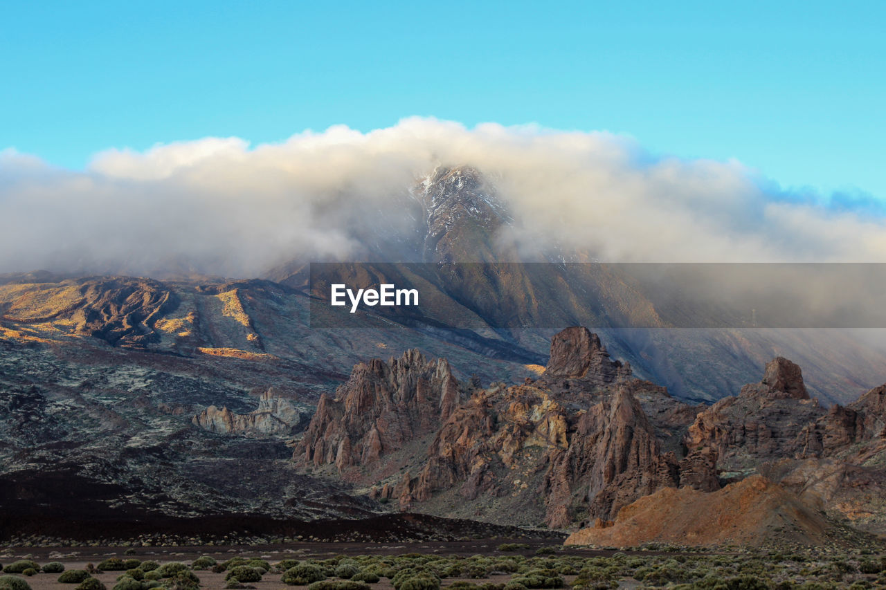 Landscape around the teide - the highest mountain of spain