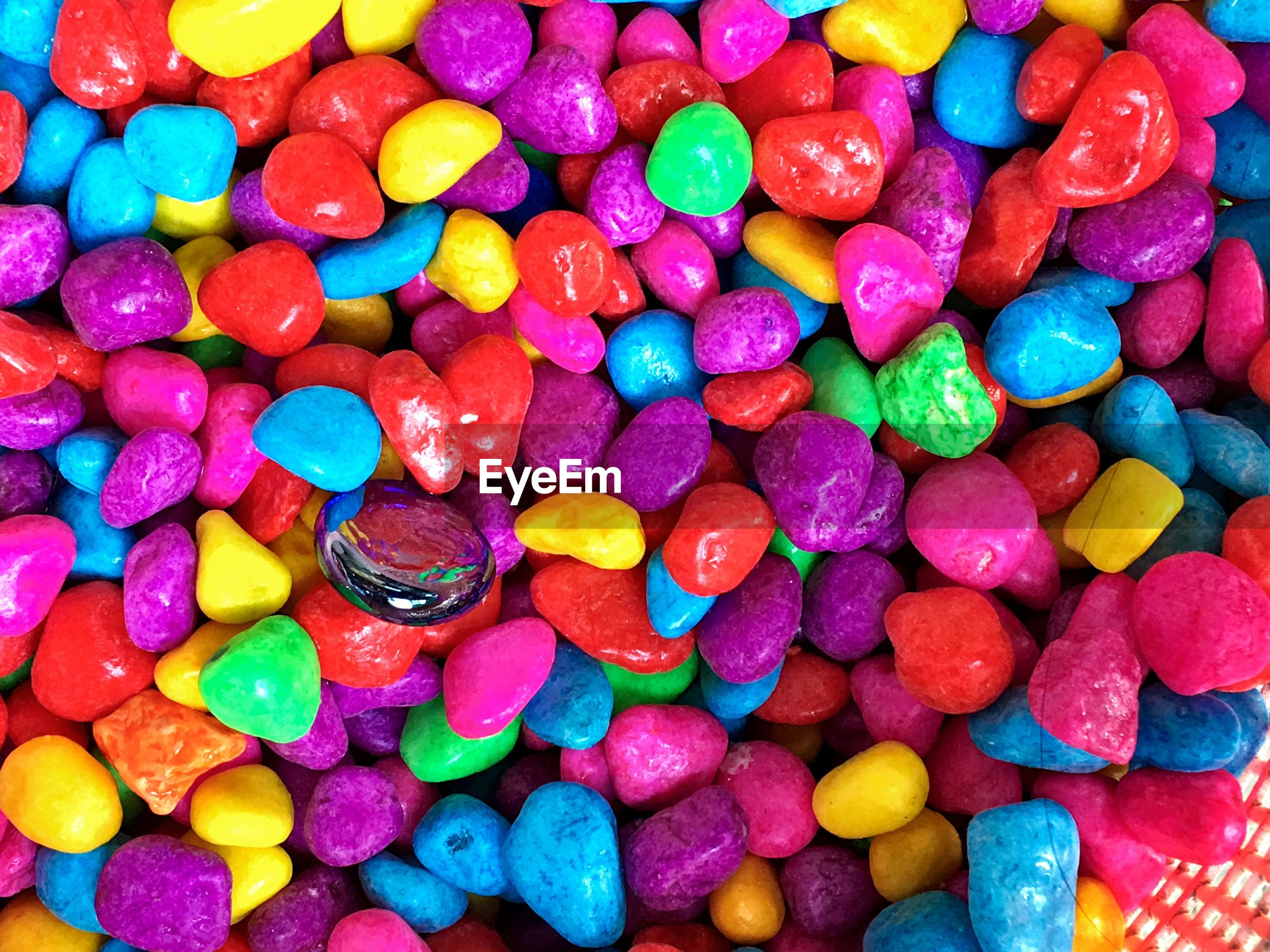 Full frame shot of colorful candies