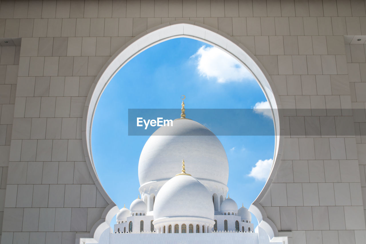 religion, place of worship, spirituality, dome, architecture, sky, built structure, no people, day, outdoors